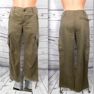 Express Embellished Drawstring Ankle Cargo Pants